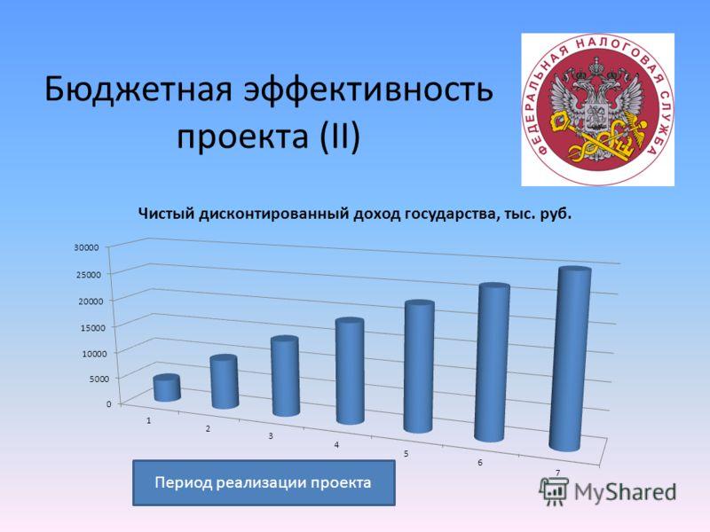 Бюджетная эффективность проекта (II) Период реализации проекта