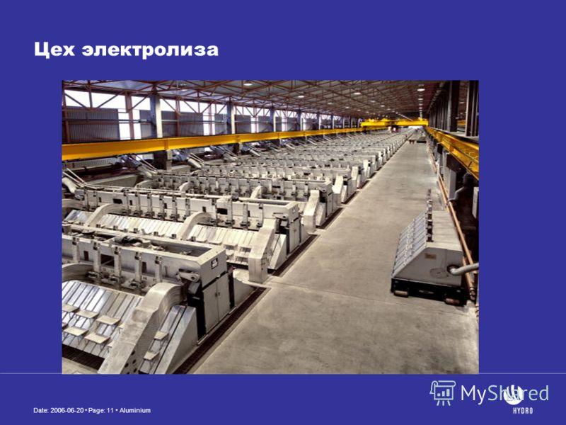 Date: 2006-06-20 Page: 11 Aluminium Цех электролиза