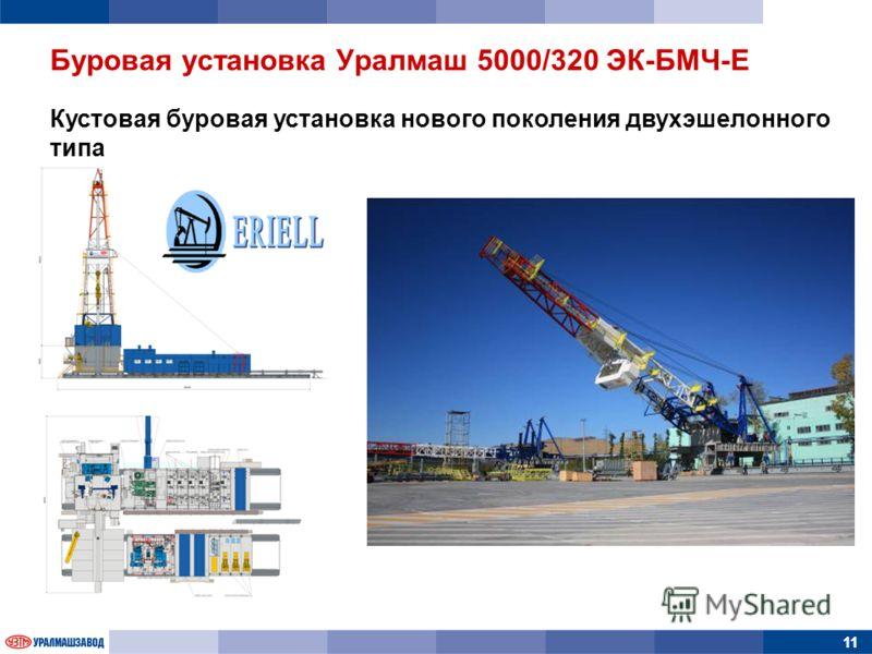 11 Кустовая буровая установка нового поколения двухэшелонного типа Буровая установка Уралмаш 5000/320 ЭК-БМЧ-Е
