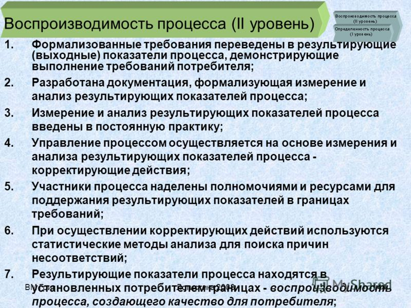 ВМ ГригЛогистика 2008143 Уровни зрелости процесса