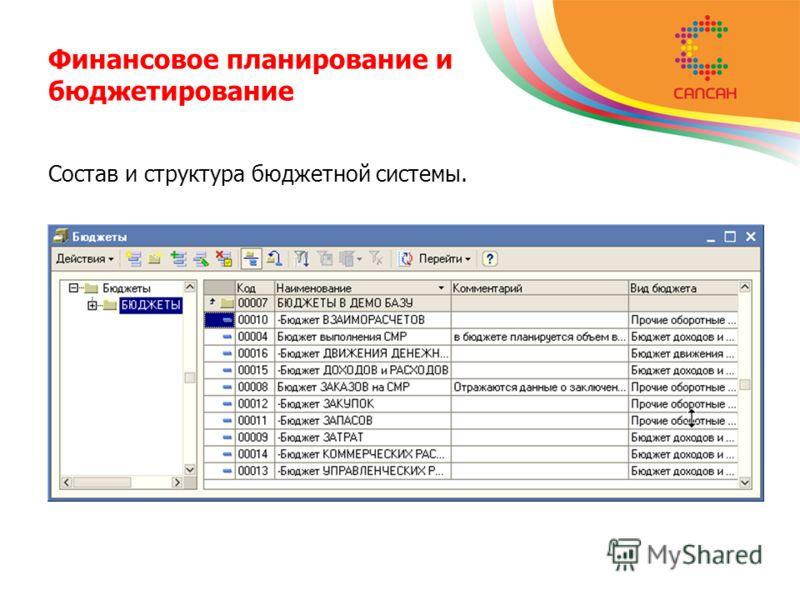 Финансовое планирование и бюджетирование Состав и структура бюджетной системы.
