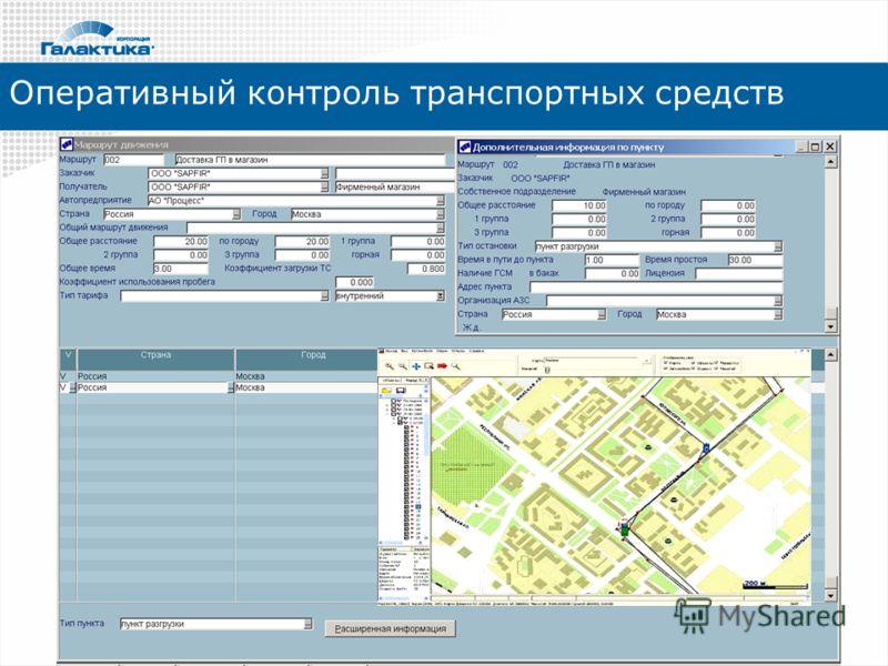 Оперативный контроль транспортных средств