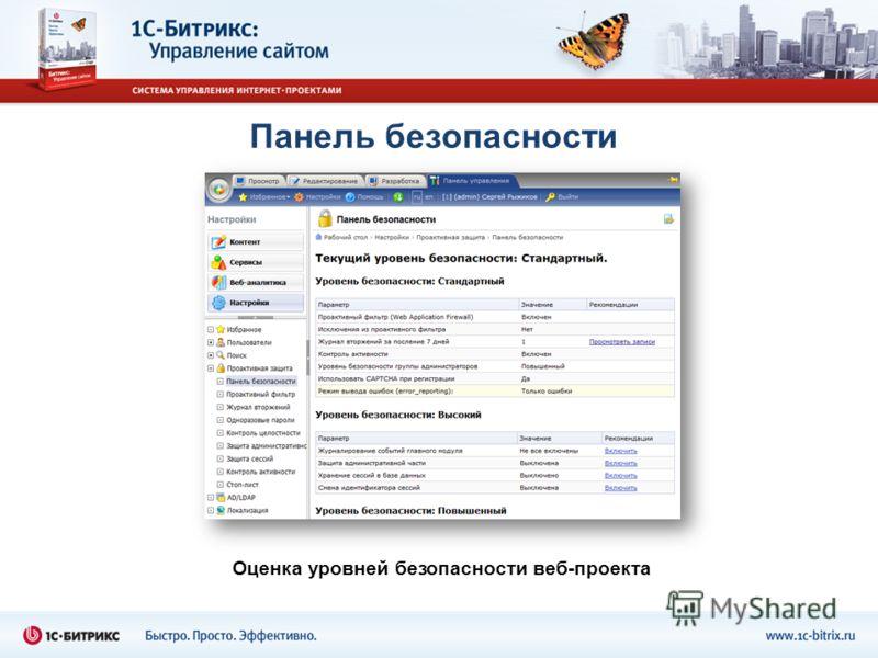 Панель безопасности Оценка уровней безопасности веб-проекта
