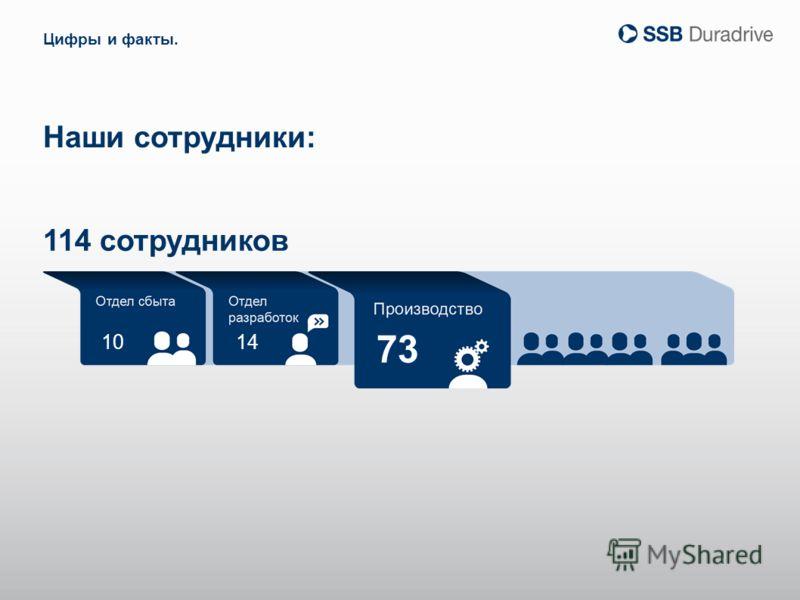 10 73 14 Наши сотрудники: Цифры и факты. 114 сотрудников