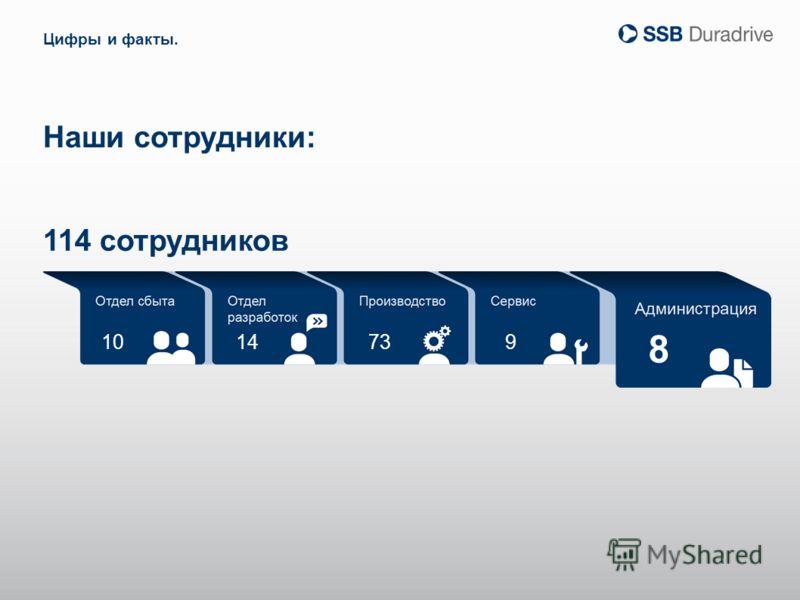 10 8 14739 Наши сотрудники: Цифры и факты. 114 сотрудников