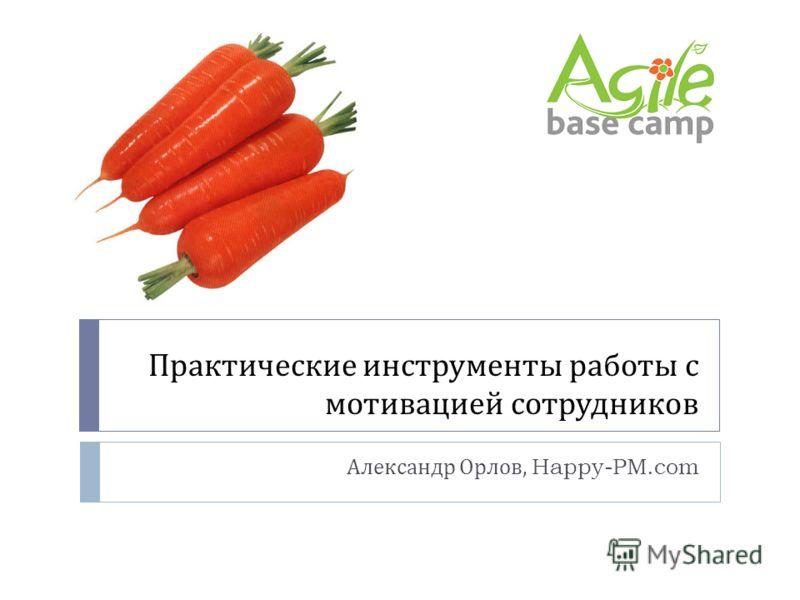 Практические инструменты работы с мотивацией сотрудников Александр Орлов, Happy-PM.com