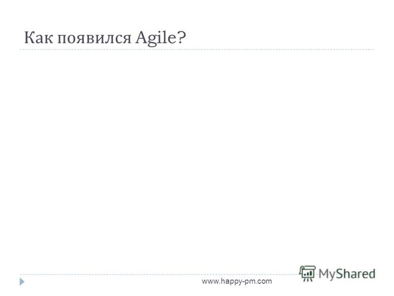 Как появился Agile? www.happy-pm.com