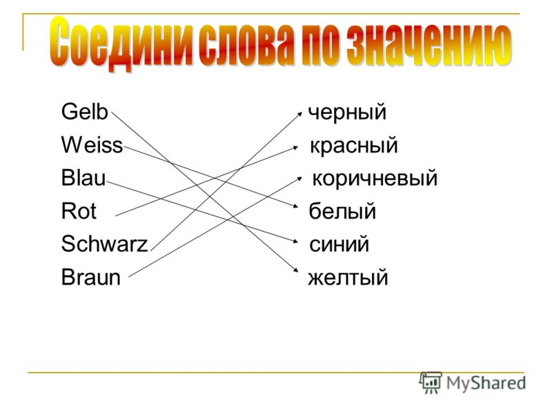 Gelb черный Weiss красный Blau коричневый Rot белый Schwarz синий Braun желтый