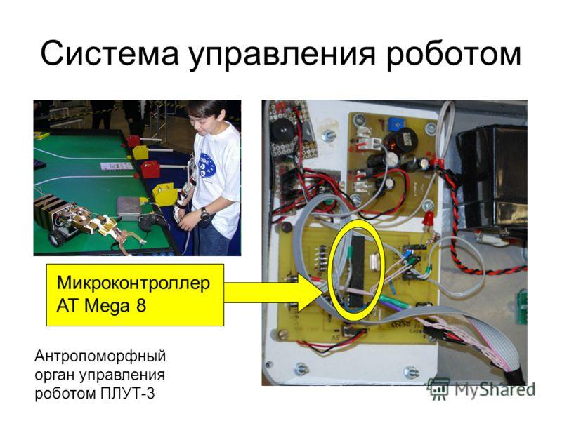 Система управления роботом Микроконтроллер AT Mega 8 Антропоморфный орган управления роботом ПЛУТ-3