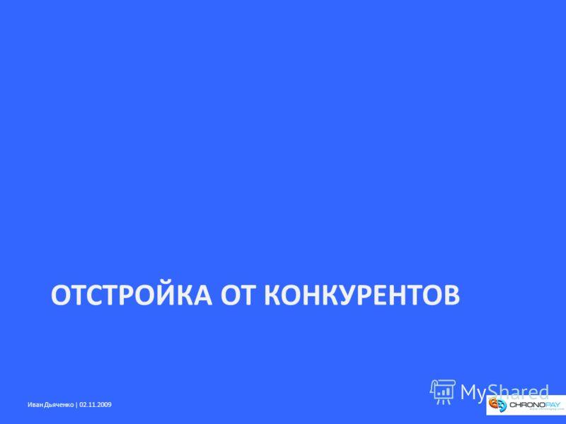 Иван Дьяченко | 02.11.2009 ОТСТРОЙКА ОТ КОНКУРЕНТОВ