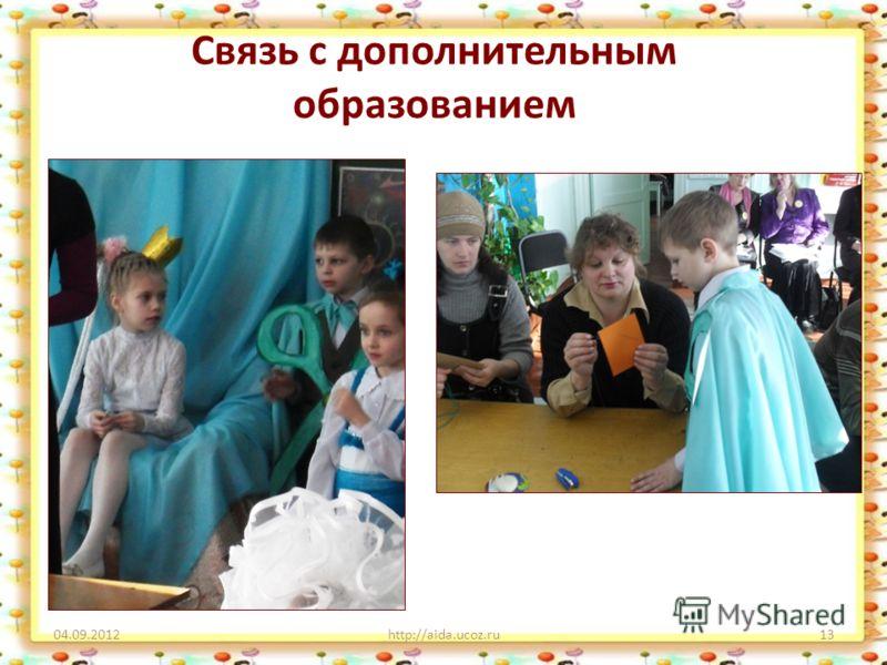 Связь с дополнительным образованием 04.09.2012http://aida.ucoz.ru13