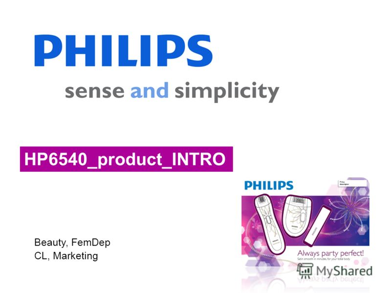 Beauty, FemDep CL, Marketing HP6540_product_INTRO