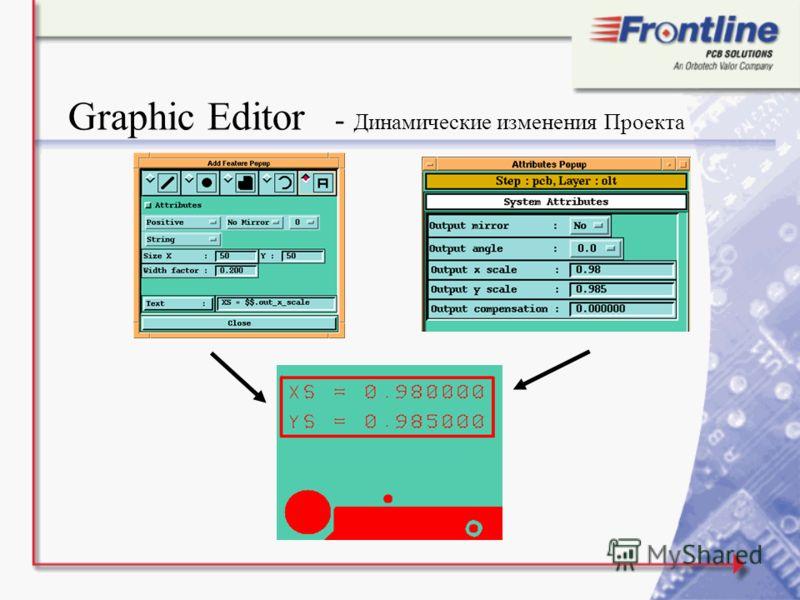 Graphic Editor - Динамические изменения Проекта