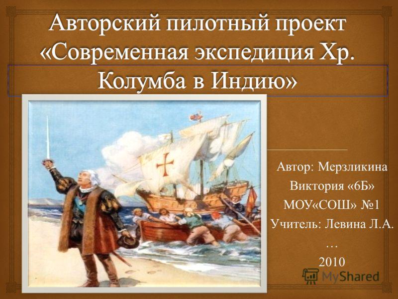 Автор : Мерзликина Виктория «6 Б » МОУ « СОШ » 1 Учитель : Левина Л. А. …2010