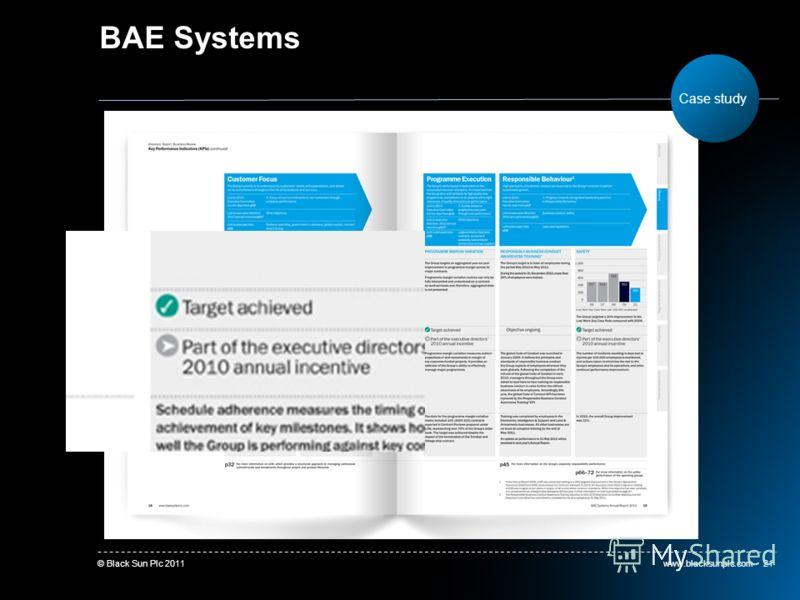 www.blacksunplc.com© Black Sun Plc 201121 BAE Systems Case study