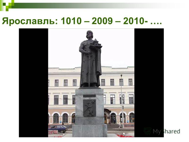 Ярославль: 1010 – 2009 – 2010- ….