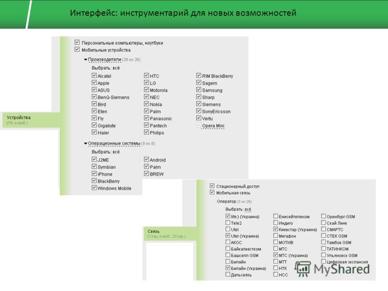 Интерфейс: инструментарий для новых возможностей