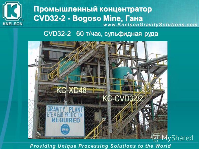 Промышленный концентратор CVD32-2 - Bogoso Mine, Гана CVD32-2 60 т/час, сульфидная руда
