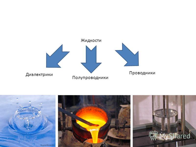 Жидкости Диэлектрики Полупроводники Проводники