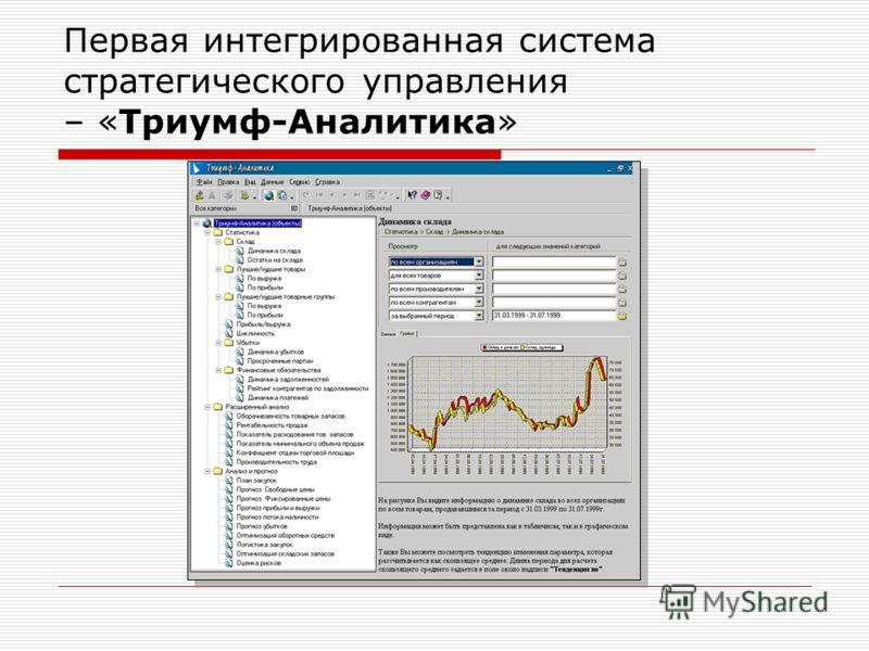 Первая интегрированная система стратегического управления – «Триумф-Аналитика»