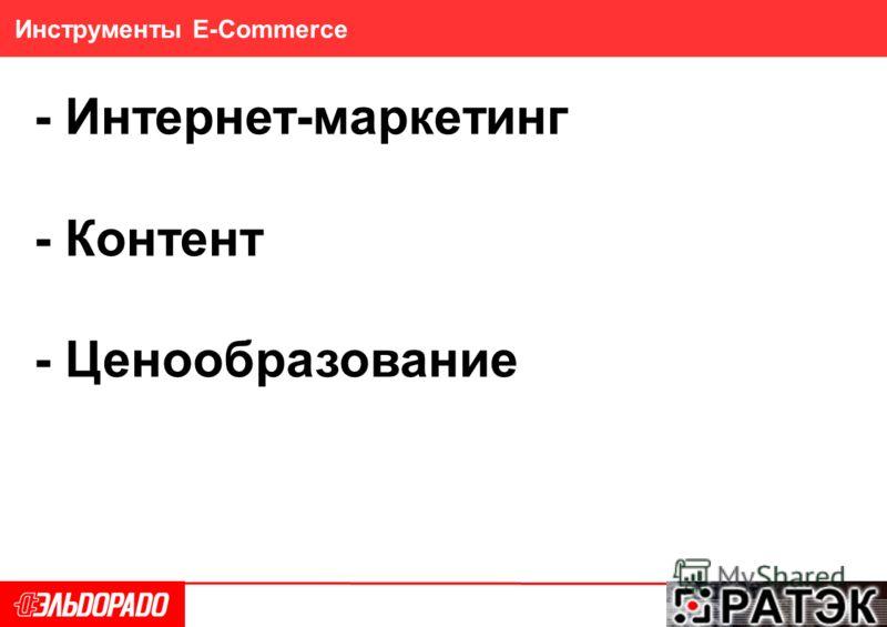 27 Инструменты E-Commerce - Интернет-маркетинг - Контент - Ценообразование