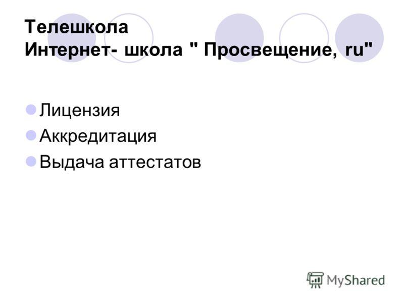 Лицензия Аккредитация Выдача аттестатов