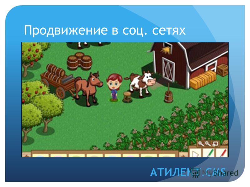 Продвижение в соц. сетях АТИЛЕКТ.CMS