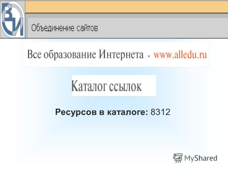 Ресурсов в каталоге: 8312