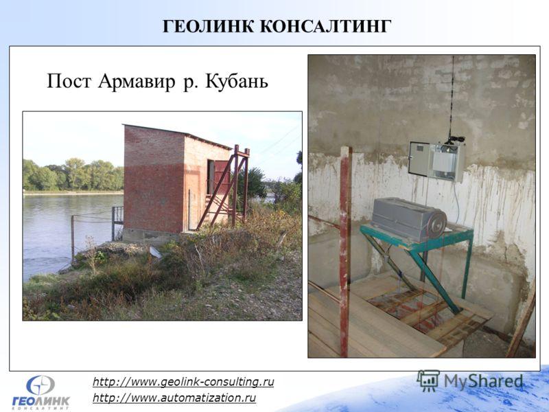 http://www.geolink-consulting.ru http://www.automatization.ru ГЕОЛИНК КОНСАЛТИНГ Пост Армавир р. Кубань