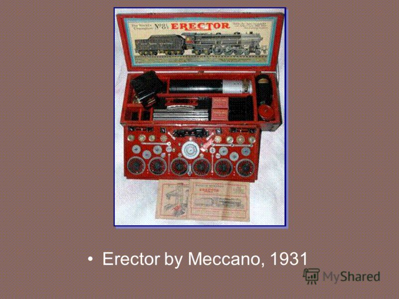 Erector by Meccano, 1931