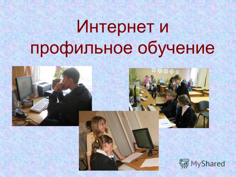 Интернет и профильное обучение
