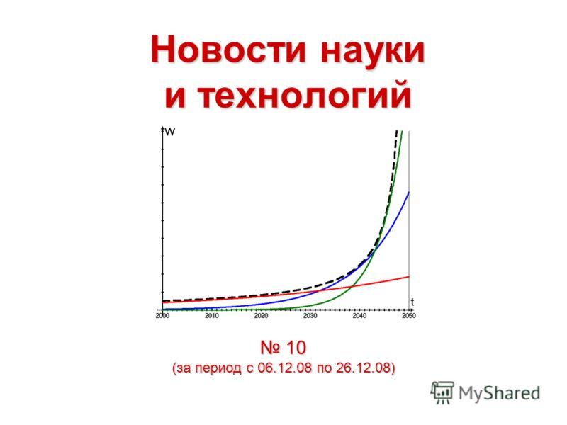 Новости науки и технологий 10 (за период с 06.12.08 по 26.12.08) 10 (за период с 06.12.08 по 26.12.08)
