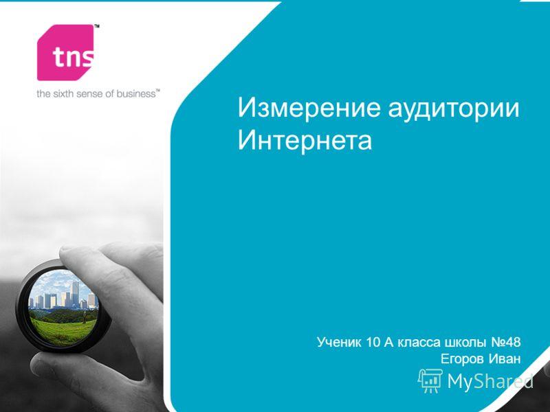 Измерение аудитории Интернета Ученик 10 А класса школы 48 Егоров Иван