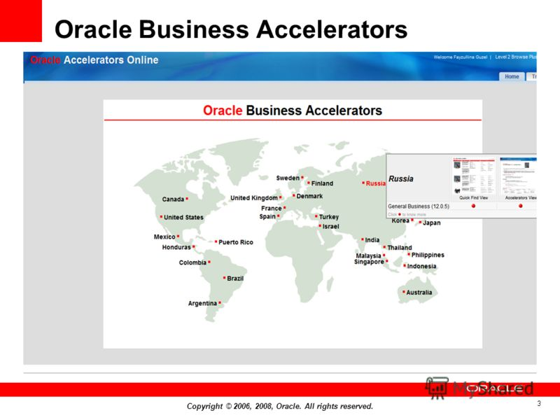 Copyright © 2006, 2008, Oracle. All rights reserved. 3 Oracle Business Accelerators