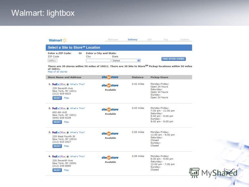 Walmart: lightbox