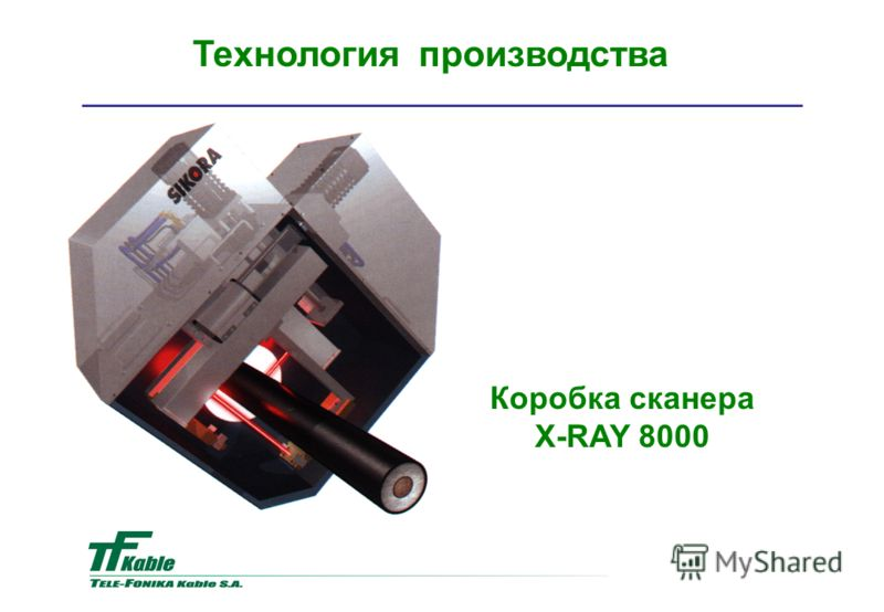 Коробка сканера X-RAY 8000 Teхнология производства