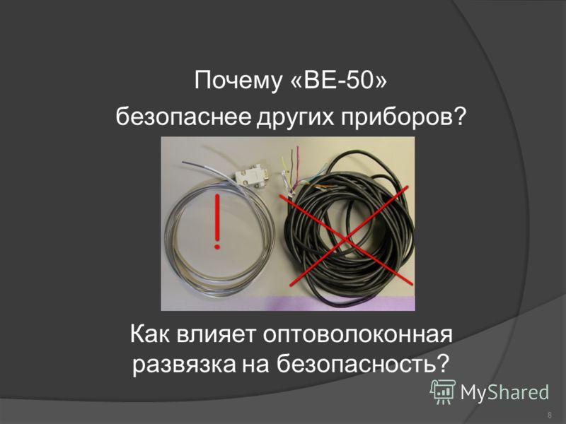 Почему «ВЕ-50» безопаснее других приборов? Как влияет оптоволоконная развязка на безопасность? 8