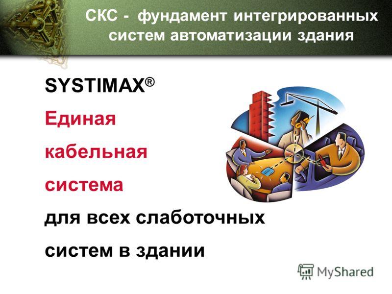 SYSTIMAX ® Единая кабельная система для всех слаботочных систем в здании СКС - фундамент интегрированных систем автоматизации здания