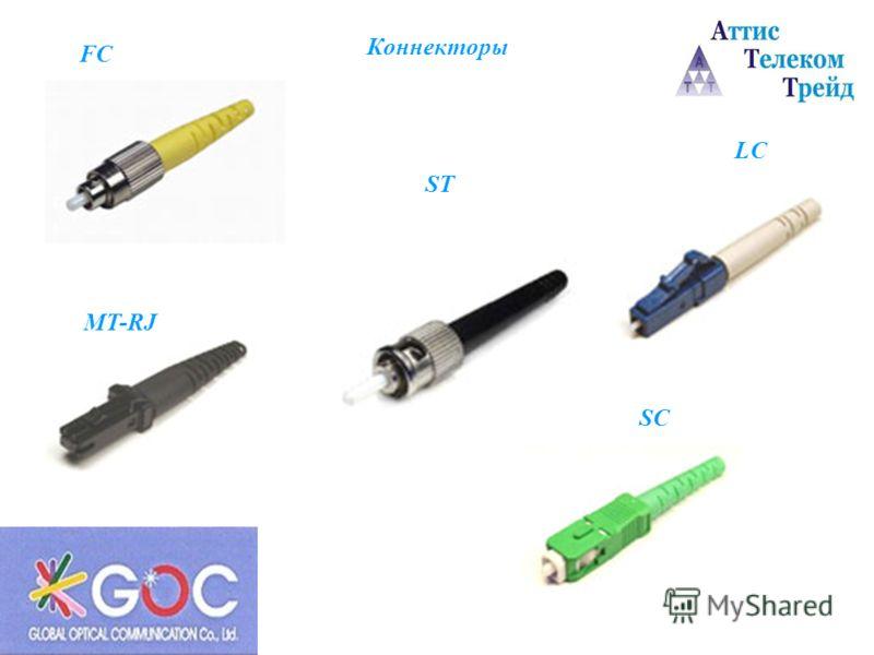 Коннекторы FC LC MT-RJ SC ST
