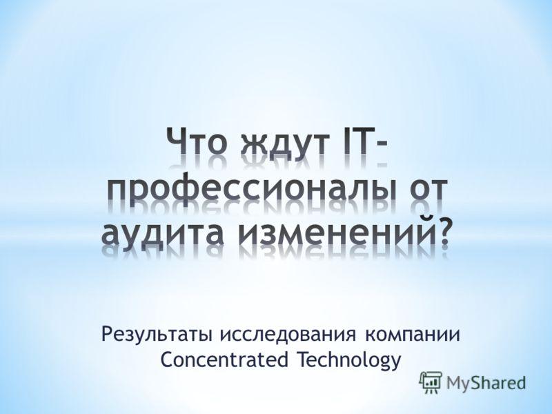 Результаты исследования компании Concentrated Technology