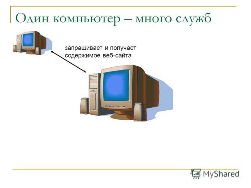 Один компьютер – много служб запрашивает и получает содержимое веб-сайта