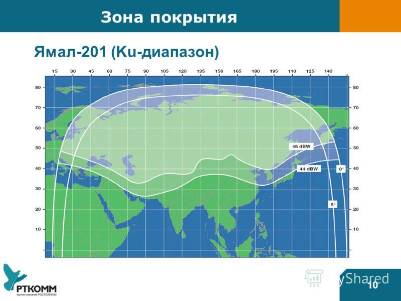 10 Зона покрытия Ямал-201 (Ku-диапазон)