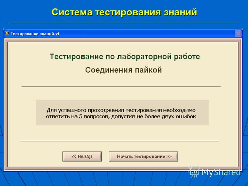 Система тестирования знаний