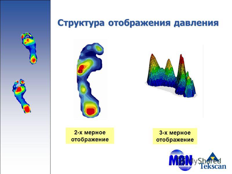 Структура отображения давления 2-х мерное отображение 3-х мерное отображение