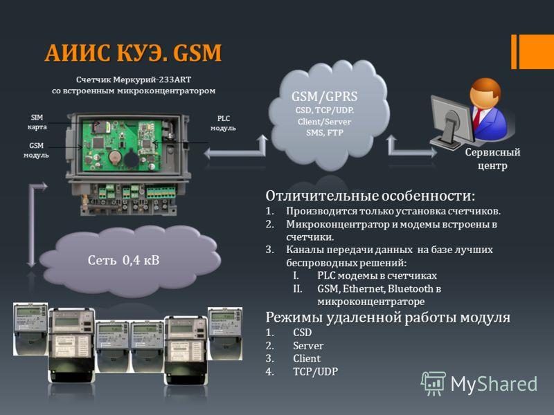 SIM карта PLC модуль Отличительные особенности: 1.Производится только установка счетчиков. 2.Микроконцентратор и модемы встроены в счетчики. 3.Каналы передачи данных на базе лучших беспроводных решений: I.PLC модемы в счетчиках II.GSM, Ethernet, Blue