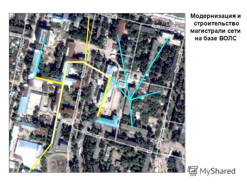 Модернизация и строительство магистрали сети на базе ВОЛС