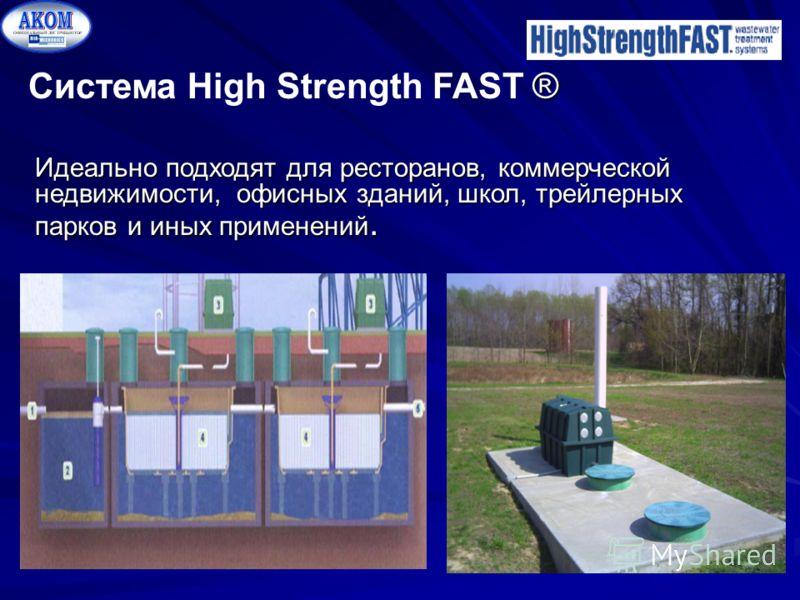 ® Система High Strength FAST ® Идеально подходят для ресторанов, коммерческой недвижимости, офисных зданий, школ, трейлерных парков и иных применений.