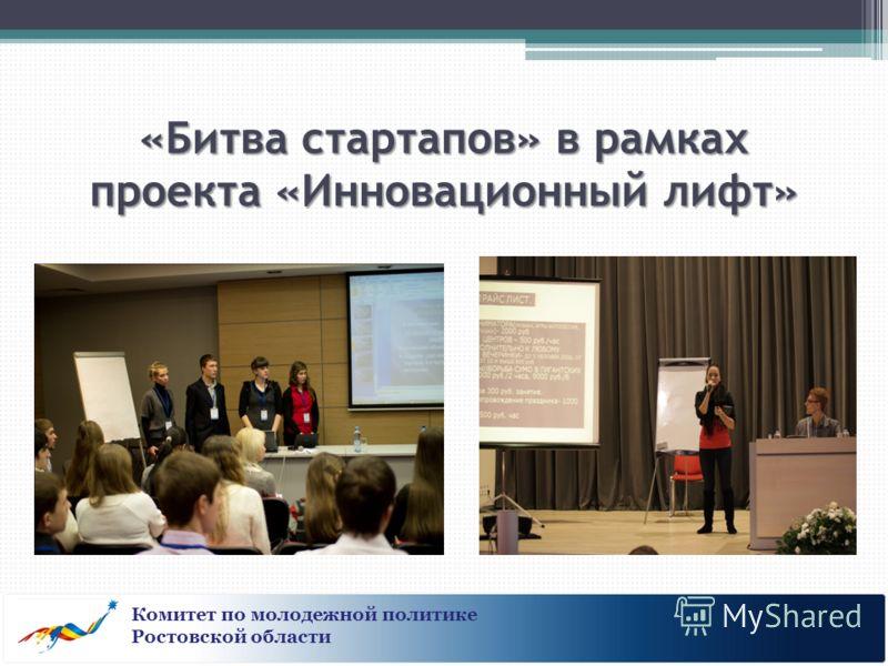 «Битва стартапов» в рамках проекта «Инновационный лифт» Комитет по молодежной политике Ростовской области
