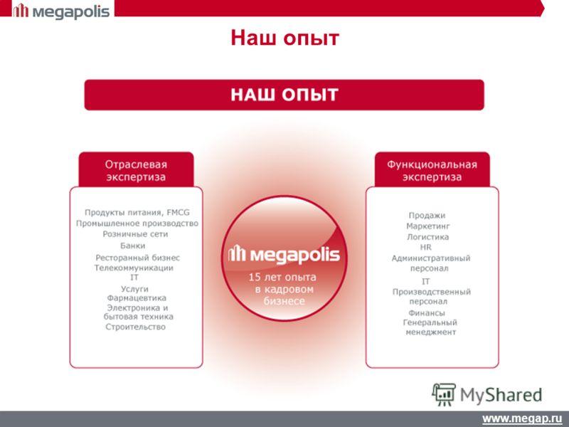 www.megap.ru Наш опыт