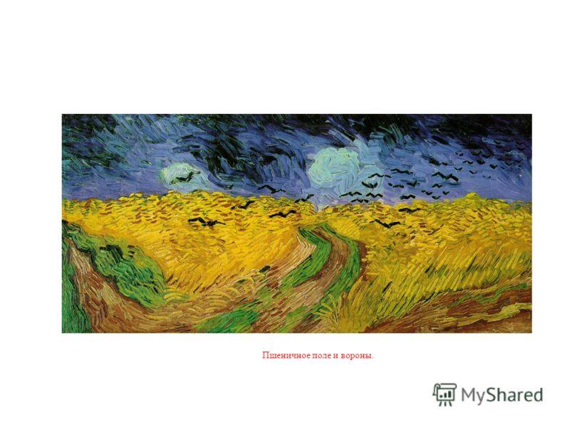 Пшеничное поле и вороны.